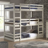 Hazel White Twin 3 Bed Bunk Bed in room 3