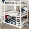 Hazel White Twin 3 Bed Bunk Bed in room 4