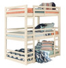 Hazel White Twin 3 Bed Bunk Bed