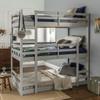 Noah Grey Twin 3 Bed Bunk Bed in room 3