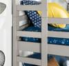 Noah Grey Twin 3 Bed Bunk Bed left ladder detail