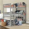 Noah Grey Twin 3 Bed Bunk Bed in room 2