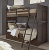 Saddlebrooke Bunk Beds twin size in room close-up