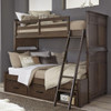 Saddlebrooke Bunk Beds twin over full size in room close-up