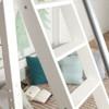 Dawson White High Loft Bed Angled Ladder Detail