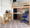Guthrie Natural Twin Loft Bed with Desk Room