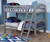 Effran Gray Low Bunk Beds in room