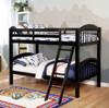 Zander Black Low Bunk Beds in room