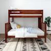 Atlas Chestnut Twin over Queen Bunk Bed Front View Room