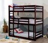 Seymore Dark Walnut 3 Bed Bunk Bed in room bunked