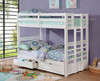 Solana White Convertible Bunk Beds in room