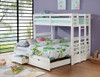 Solana White Convertible Bunk Beds extended in room