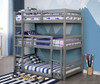 Harlow Gray 3 Bed Bunk Bed bunked