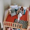 Becks Natural Queen Bunk Bed Top View Room