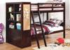 Roxbury Walnut Bunk Beds with Storage in room