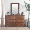 Woodlands Brown Cherry Large Dresser with matching mirror front view