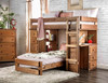Woodlands Brown Cherry L Shaped Bunk Beds in room