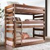Woodlands Brown Cherry Triple Bunk Bed in room