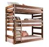 Woodlands Brown Cherry Triple Bunk Bed