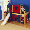 Lancelot Natural Twin Fun Castle Boys Loft Bed Room