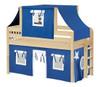 Caleb's Natural Twin Boys Playhouse Loft Bed