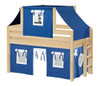 Caleb's Natural Twin Boys Playhouse Loft Bed-Panel Ends