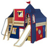 Freddie's Chestnut Full Size Fun Fort Bed with Slide