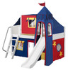 Freddie's White Twin Fun Fort Bed with Slide