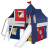 Freddie's White Full Size Fun Fort Bed with Slide