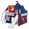 Freddie's White Full Size Fun Fort Bed with Slide-Curved Ends