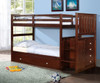 Weatherford Twin over Twin Stairway Bunk Bed shown with Optional Twin Trundle