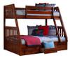 Ferguson Brown Cherry Twin over Full Bunk Bed