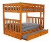 Stoney Creek Honey Full over Full Bunk Beds shown with Optional Set of 3 Storage Drawers