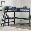 Harper Valley Kids Full Loft Bed Room Blue Finish