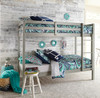 Harper Valley Low Bunk Beds for Kids Room Gray Finish