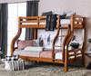 Dunbar Oak Twin over Full Bunk Bed Room