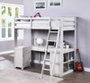 Keynes Gray Loft Bed with Desk and Storage Room