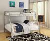 Weston Silver Twin over Queen Bunk Bed Room