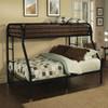 Kenosha Black Twin over Queen Bunk Bed Room