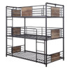 Tanha Triple Bunk Bed Angled View No Mattresses