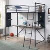 Big Sur Twin Loft Bed with Desk Room