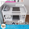 Wilde White Low Bunk Beds for Kids Top View & Information
