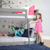 Grandview Gray Low Bunk Beds for Kids Kids on Ladder and Bed Room