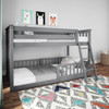 Grandview Gray Low Bunk Beds for Kids shown with 3 Optional Bottom Bunk Safety Rails