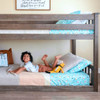Chilton Brushed Clay Low Bunk Beds for Kids Kids on Bottom Bed