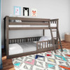 Chilton Brushed Clay Low Bunk Beds for Kids shown with 3 Optional Bottom Bunk Safety Rails