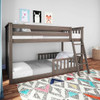 Chilton Brushed Clay Low Bunk Beds for Kids shown with 2 Optional Bottom Bunk Safety Rails