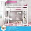 Wilde White Twin Loft Bed Information