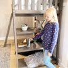 Chilton Brushed Clay Twin Loft Bed Shelf Detail