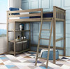 Chilton Brushed Clay Twin Loft Bed Shelves on Left-Ladder on Right Room